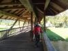 Frīdingenā. Gājēju tilts pār Donavu