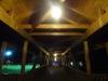 Frīdingenas gājēju tilts naktī