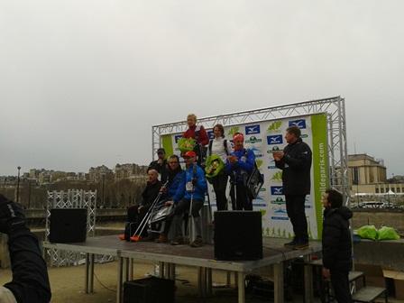 Ilze - winner of the Nordic Walking race Trail-de-Paris